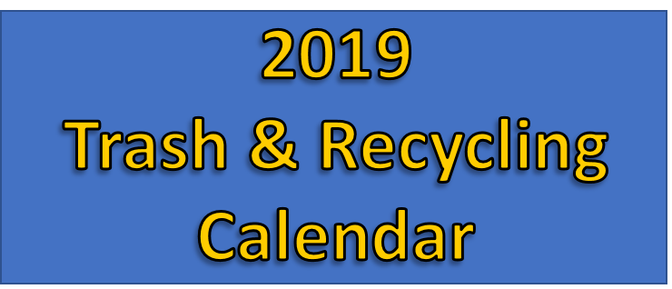 Trash & Recycling Schedule